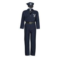 textil Herre Forklædninger Fun Costumes COSTUME ADULTE OFFICIER DE POLICE Flerfarvet