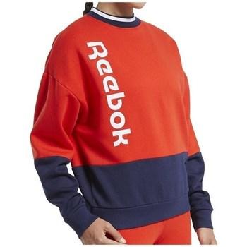 textil Dame Sweatshirts Reebok Sport TE Linear Logo Crew Rød, Flåde