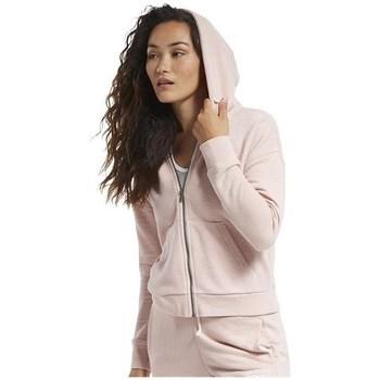 textil Dame Sweatshirts Reebok Sport TE Textured Logo Fullzip Pink