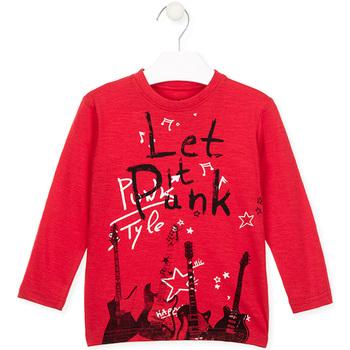 textil Børn Langærmede T-shirts Losan 026-1001AL Rød
