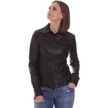 textil Dame Skjorter / Skjortebluser La Carrie 092P-C-110 Sort