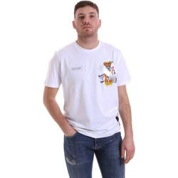 textil Herre T-shirts m. korte ærmer Disclaimer 21EDS50512 hvid
