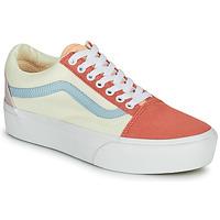 Sko Dame Lave sneakers Vans OLD SKOOL PLATFORM Hvid / Pink