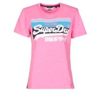 textil Dame T-shirts m. korte ærmer Superdry VL CALI TEE 181 Pink