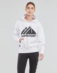 textil Dame Sweatshirts Superdry MOUNTAIN SPORT MONO HOOD Hvid