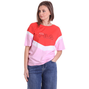textil Dame T-shirts m. korte ærmer Fila 683162 Rød