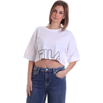 textil Dame T-shirts m. korte ærmer Fila 683170 hvid