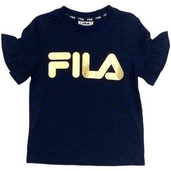textil Pige T-shirts m. korte ærmer Fila 688038 Blå