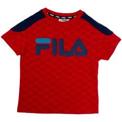 textil Børn T-shirts m. korte ærmer Fila 688077 Rød