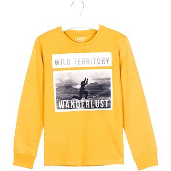 textil Børn Langærmede T-shirts Losan 023-1027AL Gul