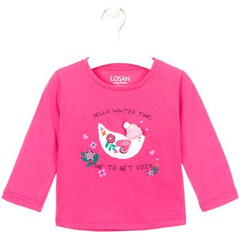 textil Pige Langærmede T-shirts Losan 026-1008AL Lyserød