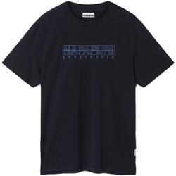 textil Herre T-shirts m. korte ærmer Napapijri NP0A4EOB Blå