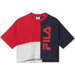 textil Børn T-shirts m. korte ærmer Fila 687998 Rød