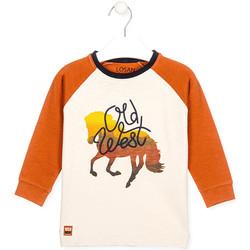 textil Børn T-shirts & poloer Losan 025-1018AL hvid
