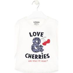 textil Pige Langærmede T-shirts Losan 026-1022AL hvid