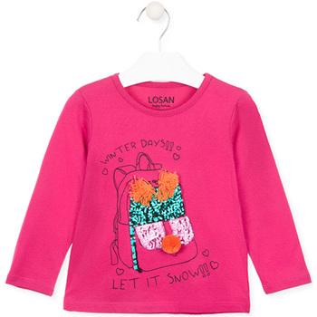 textil Pige Langærmede T-shirts Losan 026-1201AL Lyserød
