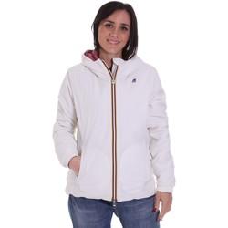 textil Dame Jakker K-Way K00A2F0 hvid