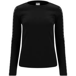 textil Dame Langærmede T-shirts Freddy F0WSDT6 Sort