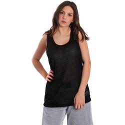 textil Dame Toppe / T-shirts uden ærmer Converse 10007415 Sort