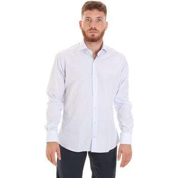 textil Herre Skjorter m. lange ærmer Les Copains 20P.922 P3196SL hvid