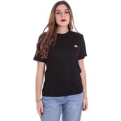textil Dame T-shirts m. korte ærmer Dickies DK0A4TMYBLK1 Sort