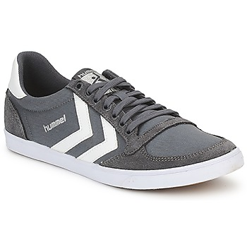 Sko Herre Lave sneakers Hummel TEN STAR LOW CANVAS Grå / Hvid