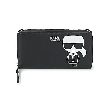 Tasker Dame Tegnebøger Karl Lagerfeld K/IKONIK CONTINENTAL ZIP AROUND Sort