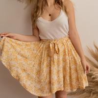 textil Dame Nederdele Céleste EGLANTINE Gul / Hvid