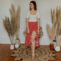 textil Dame Nederdele Céleste TOURTERELLE Rød / Flerfarvet