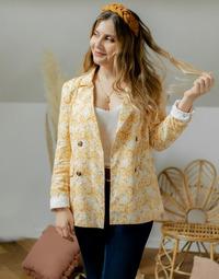 textil Dame Jakker / Blazere Céleste ALIZE Gul / Hvid