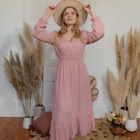 textil Dame Lange kjoler Céleste COLOMBE Pink
