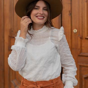 textil Dame Toppe / Bluser Céleste HIRONDELLE Hvid