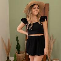 textil Dame Shorts Céleste MAGNOLIA Sort
