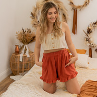 textil Dame Shorts Céleste MAGNOLIA Terrakotta