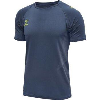 textil Herre T-shirts m. korte ærmer Hummel Maillot d'entrainement bleu/jaune