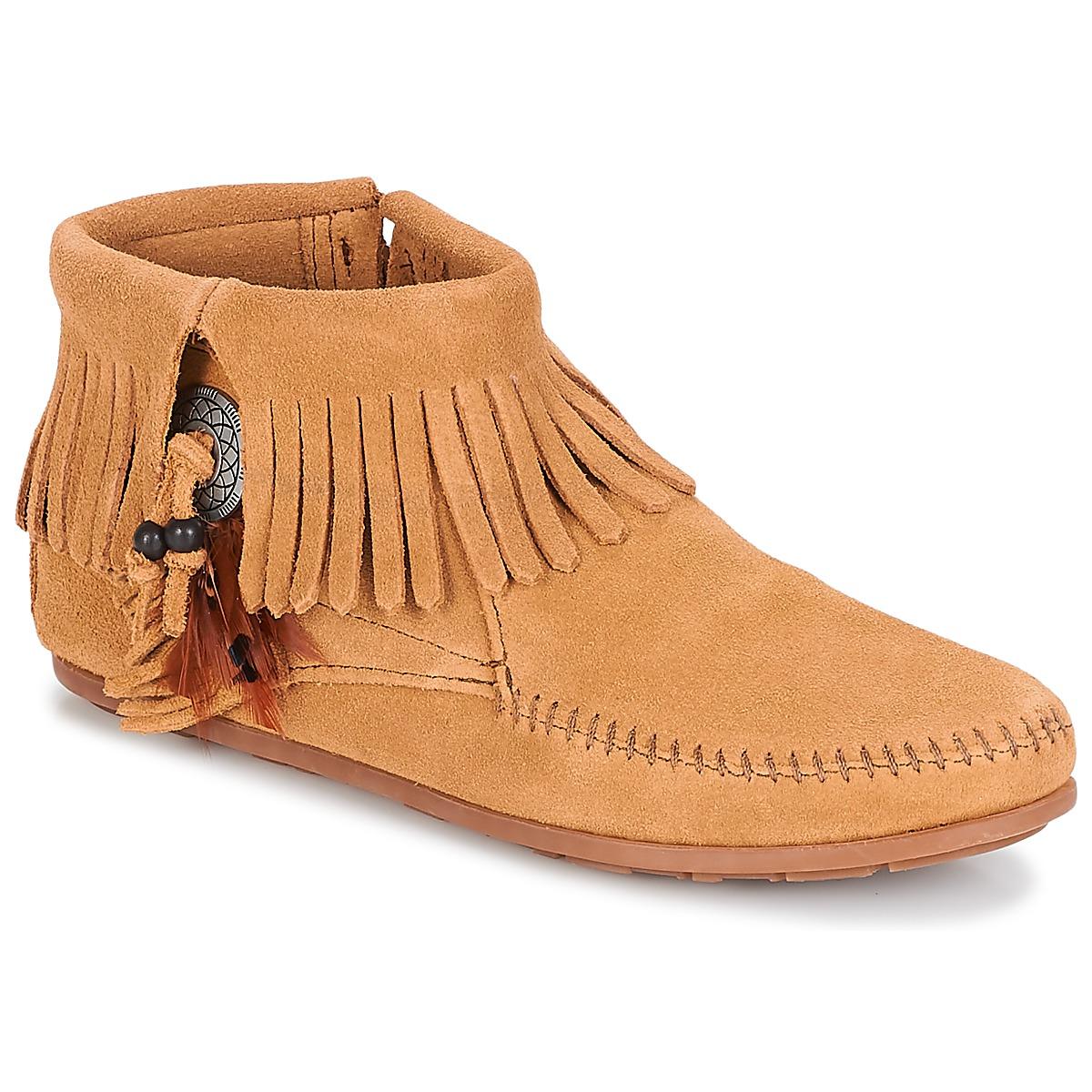 Støvler Minnetonka  CONCHO FEATHER SIDE ZIP BOOT