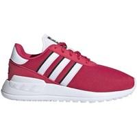 Sko Børn Lave sneakers adidas Originals LA Trainer Lite C Hvid, Pink