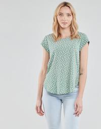 textil Dame Toppe / Bluser Only ONLVIC Grøn / Hvid