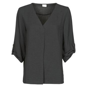 textil Dame Toppe / Bluser JDY JDYDIVYA 3/4 TOP WVN NOOS Sort