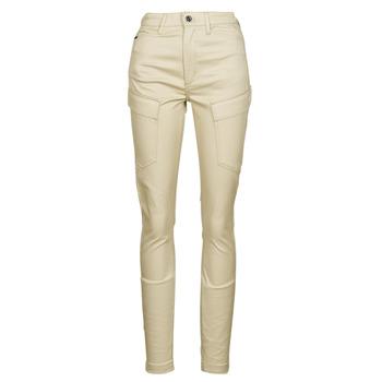 textil Dame Cargo bukser G-Star Raw HIGH G-SHAPE CARGO SKINNY PANT WMN Beige