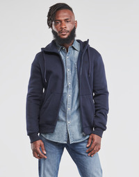 textil Herre Sweatshirts G-Star Raw PREMIUM BASIC HOODED ZIP SWEATER Marineblå