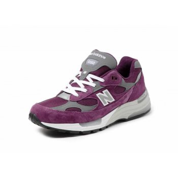 Sko Lave sneakers New Balance 992 Purple Grey Purple / Grey
