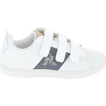 Sko Lave sneakers Le Coq Sportif Courtclassic PS Blanc Bleu Hvid
