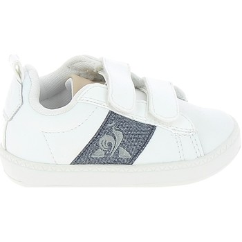 Sko Lave sneakers Le Coq Sportif Courtclassic BB Blanc Bleu Hvid