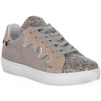 Sko Dame Lave sneakers At Go GO GLITTER FIESTA Beige