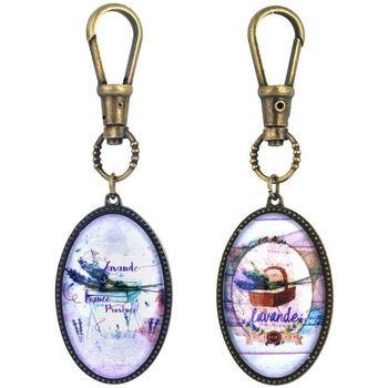 Indretning Små statuer og figurer Signes Grimalt Lavendel nøglering sæt 2 U Multicolor