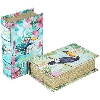 Indretning Kufferter og opbevaringskister Signes Grimalt Bogkasse sæt 2 enheder Multicolor