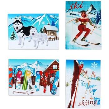 Indretning Julepynt Signes Grimalt Magnetisk sne sæt 4 U Multicolor