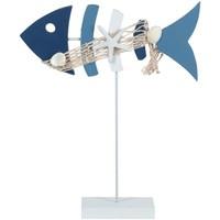 Indretning Små statuer og figurer Signes Grimalt Fisk Azul
