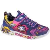 Sko Børn Lave sneakers Skechers Dynamight Blå, Gul, Pink
